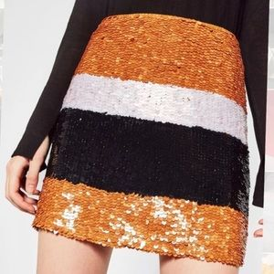 NWT Paillette Sequin Mini Skirt